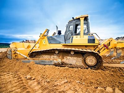 Commercial Construction-Bulldozer Moving Soil