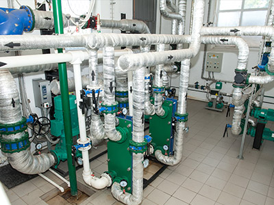 Commercial plumbing-installation